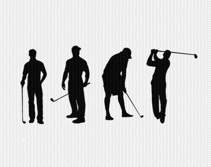golf svg dxf jpeg png file instant download stencil silhouette cameo cricut downloads clip art commercial use