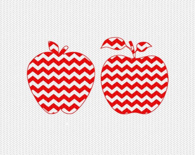 chevron apple pattern svg dxf file instant download silhouette cameo cricut clip art