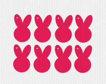 easter bunny gift tags svg dxf jpeg png file stencil monogram frame silhouette cameo cricut clip art commercial use