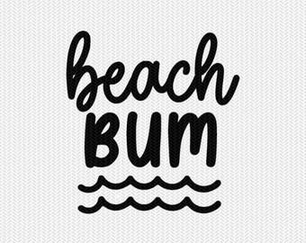 beach bum svg dxf file stencil silhouette cameo cricut commercial use cricut downloads