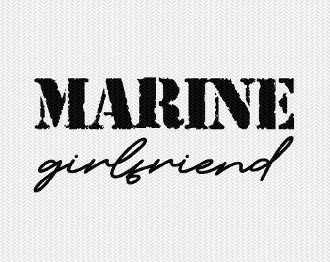 marine girlfriend military svg dxf file stencil silhouette cameo cricut clip art commercial use