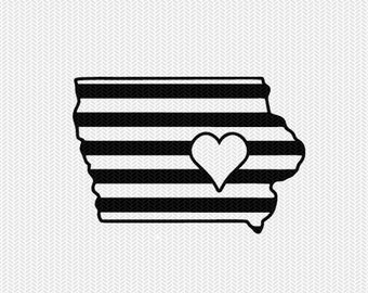 iowa stripes heart svg dxf file download stencil silhouette cameo cricut downloads cut file downloads clip art commercial use