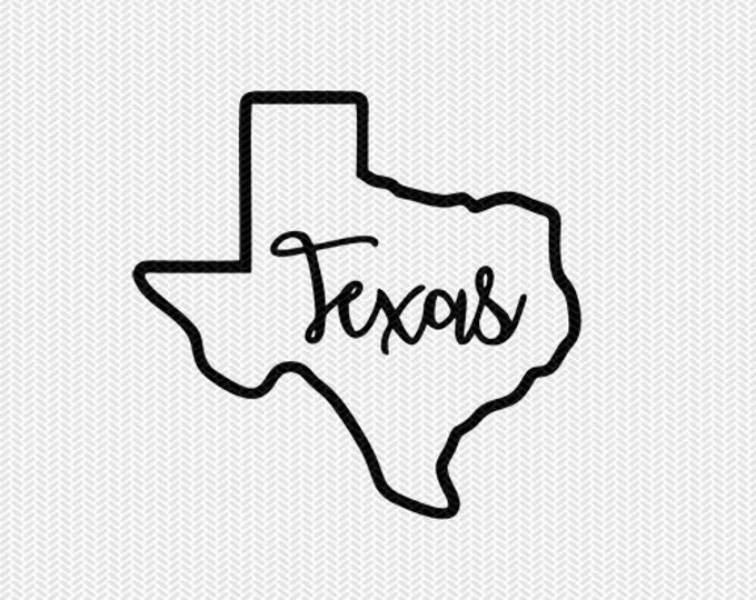 texas dxf jpeg png file instant download stencil silhouette cameo cricut clip art commercial use