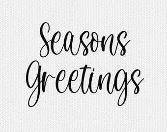 seasons greetings christmas cut file svg dxf file stencil silhouette cameo cricut commercial use cricut downloads