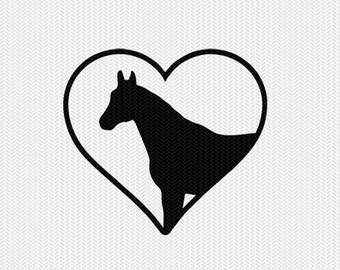 horse heart svg dxf png file instant download stencil silhouette cameo cricut downloads cut file clip art commercial use