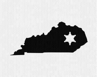 kentucky sheriff svg dxf file stencil instant download silhouette cameo cricut downloads clip art sheriff state svg dxf file