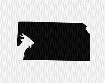 kansas goat svg dxf file stencil instant download silhouette cameo cricut downloads clip art animals goat state svg dxf file