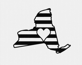 new york stripes heart svg dxf file download stencil silhouette cameo cricut downloads cut file downloads clip art commercial use
