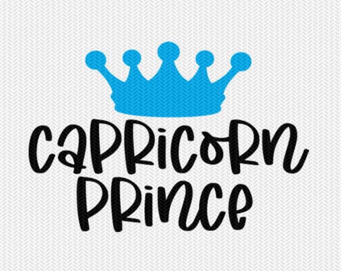 capricorn prince zodiac astrology svg dxf file instant download silhouette cameo cricut clip art commercial use cricut downloads