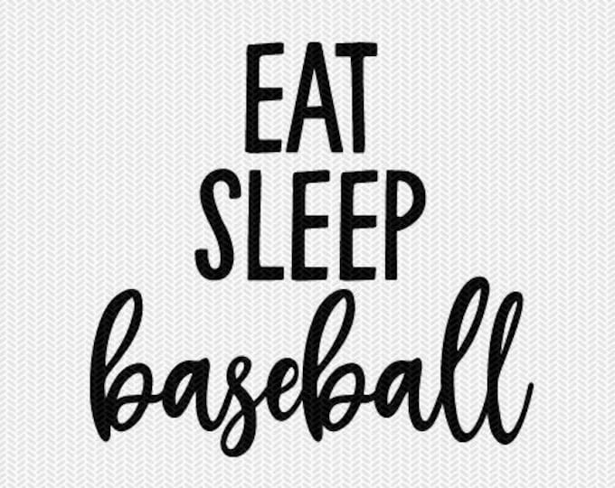 eat sleep baseball svg dxf file instant download silhouette cameo cricut clip art commercial use cricut download
