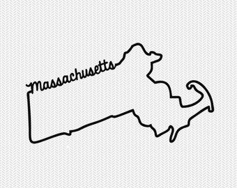 massachusetts svg dxf file instant download stencil silhouette cameo cricut downloads cut file downloads clip art commercial use