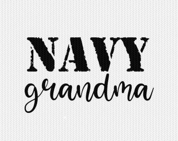 navy grandma svg dxf file stencil silhouette cameo cricut clip art commercial use