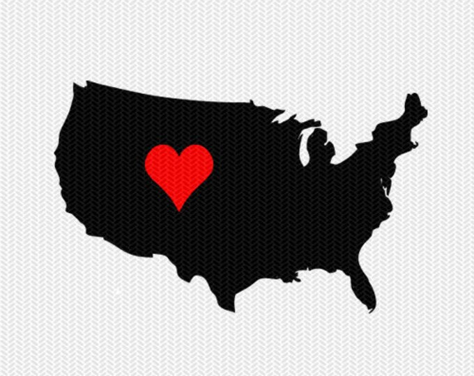 america heart svg dxf file stencil monogram frame silhouette cameo cricut clip art commercial use