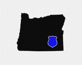 oregon police svg dxf file stencil instant download silhouette cameo cricut downloads clip art state svg dxf file