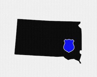 south dakota police svg dxf file stencil instant download silhouette cameo cricut downloads clip art state svg dxf file