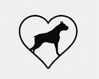 dog heart svg dxf png file instant download stencil silhouette cameo cricut downloads cut file clip art commercial use