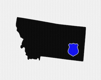 montana police svg dxf file stencil instant download silhouette cameo cricut downloads clip art police state svg dxf file