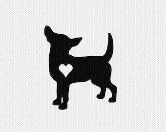 dog heart svg dxf file instant download stencil silhouette cameo cricut downloads clip art commercial use