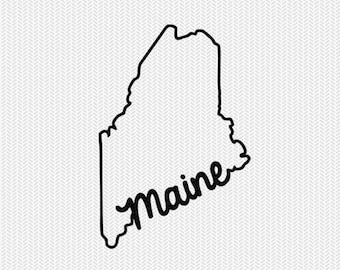 maine svg dxf file instant download stencil silhouette cameo cricut downloads cut file downloads clip art commercial use