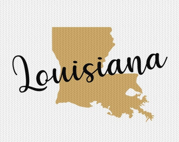 louisiana state svg dxf file instant download silhouette cameo cricut downloads clip art commercial use