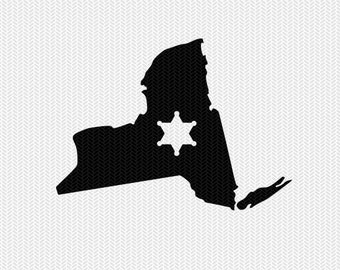 new york sheriff svg dxf file stencil instant download silhouette cameo cricut downloads clip art sheriff state svg dxf file