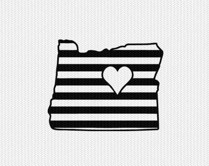 oregon stripes heart svg dxf file download stencil silhouette cameo cricut downloads cut file downloads clip art commercial use