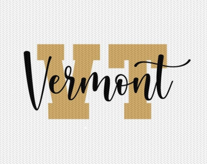 vermont state svg dxf file instant download silhouette cameo cricut downloads clip art commercial use