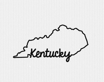 kentucky svg dxf file instant download stencil silhouette cameo cricut downloads cut file downloads clip art commercial use