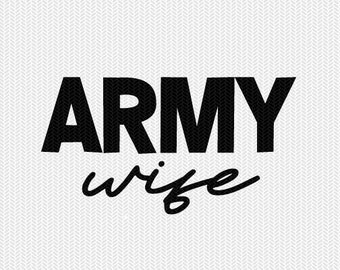 army wife military svg dxf file stencil silhouette cameo cricut clip art commercial use