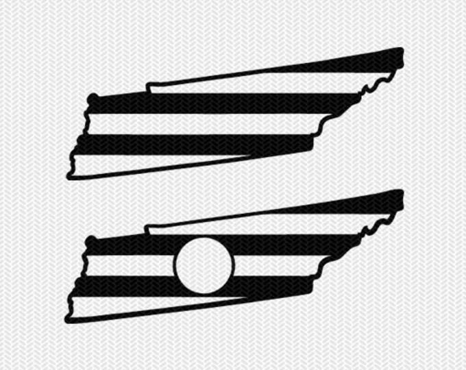 tennessee stripes monogram svg dxf file download stencil silhouette cameo cricut downloads cut file downloads clip art commercial use