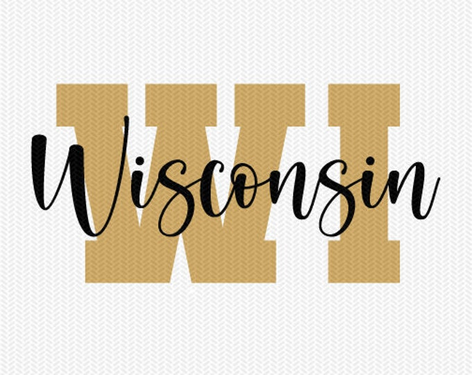 wisconsin state svg dxf file instant download silhouette cameo cricut downloads clip art commercial use