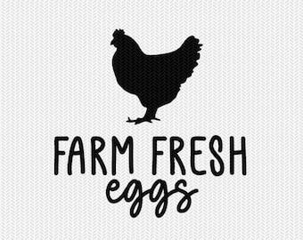 farm fresh eggs svg dxf file instant download stencil silhouette cameo cricut clip art animals commercial use cricut downloads