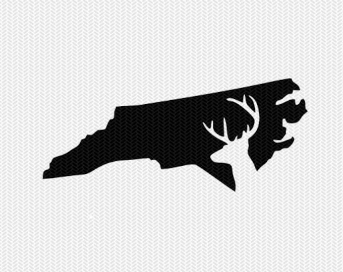 north carolina deer hunting svg dxf file stencil instant download silhouette cameo cricut downloads clip art deer hunting state svg dxf file