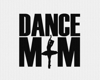 dance mom clip art svg dxf file instant download silhouette cameo cricut downloads digital scrapbooking commercial use