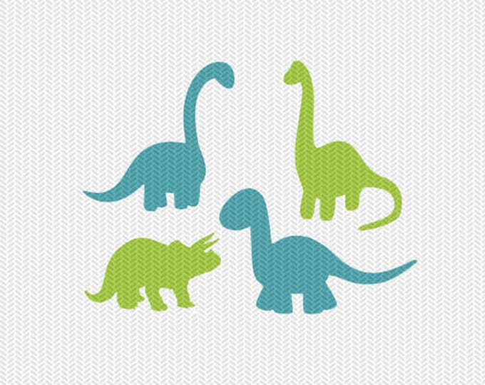 baby dinosaurs kids svg dxf file instant download silhouette cameo cricut clip art commercial use