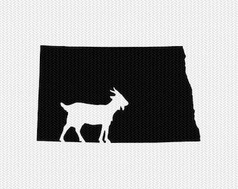 north dakota goat svg dxf file stencil instant download silhouette cameo cricut downloads clip art animals goat state svg dxf file