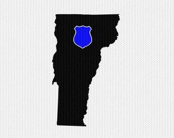 vermont police svg dxf file stencil instant download silhouette cameo cricut downloads clip art state svg dxf file