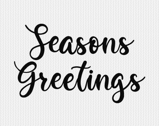 seasons greetings svg dxf file instant download silhouette cameo cricut downloads clip art commercial use