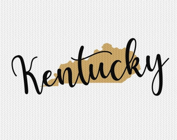 kentucky state svg dxf file instant download silhouette cameo cricut downloads clip art commercial use