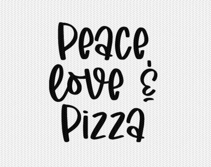 peace love and pizza clip art svg dxf file instant download silhouette cameo cricut clip art commercial use cricut download