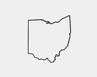 ohio outline svg dxf file stencil silhouette cameo cricut clip art commercial use