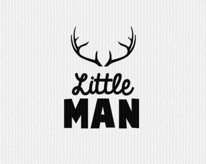 little man deer antlers svg dxf file instant download silhouette cameo cricut download clip art commercial use