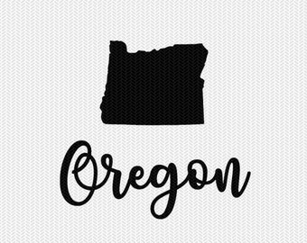 oregon decal silhouette svg dxf file instant download silhouette cameo cricut downloads clip art commercial use
