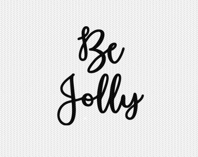 be jolly christmas svg dxf jpeg png file stencil monogram frame silhouette cameo cricut downloads clip art commercial use