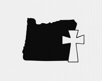 oregon cross svg dxf file stencil state cut file silhouette cameo cricut download clip art commercial use
