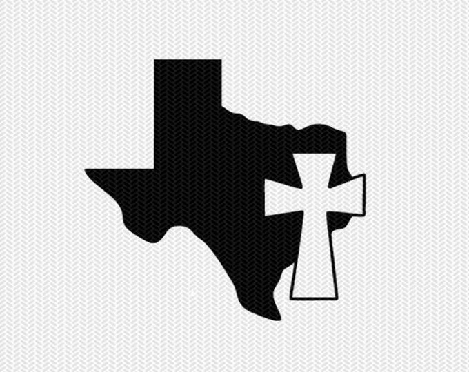 texas cross svg dxf file stencil state cut file silhouette cameo cricut download clip art commercial use