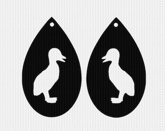 baby duck earring template earring svg gift tags cricut download svg dxf file stencil silhouette cameo cricut clip art commercial use