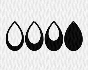 tear drop earring template earring svg gift tags cricut download svg dxf file stencil silhouette cameo cricut clip art commercial use
