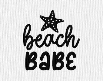 beach babe svg dxf file stencil silhouette cameo cricut commercial use cricut downloads