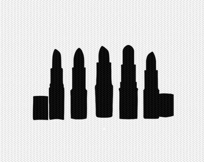 lip stick make up svg dxf file stencil frame silhouette cameo cricut clip art commercial use